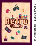 retro game template or flyer...   Shutterstock .eps vector #1150159253