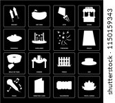 set of 16 icons such as festa...