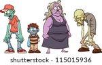 cartoon zombies. vector...   Shutterstock .eps vector #115015936