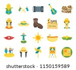 set of 20 icons such as picnic  ...