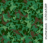 green camouflage seamless... | Shutterstock .eps vector #1150165289