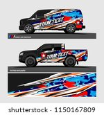 car wrap design vector  truck... | Shutterstock .eps vector #1150167809