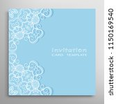 invitation or card template... | Shutterstock .eps vector #1150169540