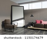 brown living room corner with a ... | Shutterstock . vector #1150174679