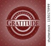gratitude retro red emblem | Shutterstock .eps vector #1150175999