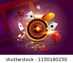 Casino Night Background With 3...