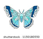 hyalophora cecropia  cecropia... | Shutterstock .eps vector #1150180550