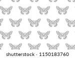 hyalophora cecropia  cecropia... | Shutterstock .eps vector #1150183760