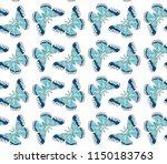 hyalophora cecropia  cecropia... | Shutterstock .eps vector #1150183763
