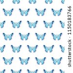 hyalophora cecropia  cecropia... | Shutterstock .eps vector #1150183766