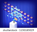 data center concept. high... | Shutterstock .eps vector #1150185029