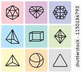 set of 9 simple editable icons... | Shutterstock .eps vector #1150186793