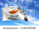 national flag of cyprus on a... | Shutterstock . vector #1150190330