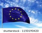 national flag of european union ... | Shutterstock . vector #1150190420
