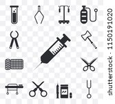 set of 13 simple editable icons ...   Shutterstock .eps vector #1150191020