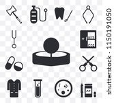 set of 13 simple editable icons ...   Shutterstock .eps vector #1150191050