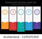 5 vector icons such as the 69... | Shutterstock .eps vector #1150191503