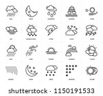 set of 20 icons such as eclipse ...