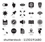 set of 20 icons such as slide ...