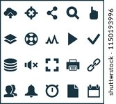 interface icons set with search ...