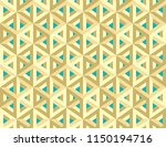 isometric 3d hollow cubes... | Shutterstock .eps vector #1150194716