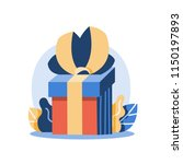 creative gift box illustration  ... | Shutterstock .eps vector #1150197893