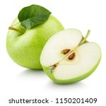 Ripe Green Apple Fruit With...
