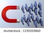 3d illustration lead magnet... | Shutterstock . vector #1150203860