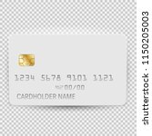 white blank bank card template... | Shutterstock .eps vector #1150205003