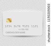 white blank bank card template... | Shutterstock .eps vector #1150205003