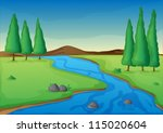 Illustration Of A River In A...