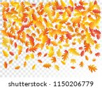 oak and maple leaf cool... | Shutterstock .eps vector #1150206779
