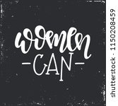women can hand drawn typography ...   Shutterstock .eps vector #1150208459
