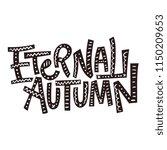 eternal autumn. vector autumn...   Shutterstock .eps vector #1150209653