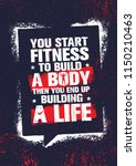 you start fitness to build a... | Shutterstock .eps vector #1150210463