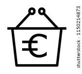 shopping euro bag  | Shutterstock .eps vector #1150214873