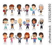 cartoon flat characters of... | Shutterstock .eps vector #1150218050