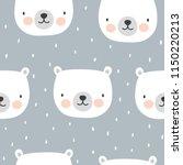 cute polar bear seamless... | Shutterstock .eps vector #1150220213