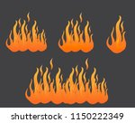 fire  flame is burning  vector | Shutterstock .eps vector #1150222349