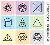 set of 9 simple editable icons... | Shutterstock .eps vector #1150225676
