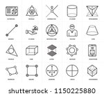 set of 20 icons such as... | Shutterstock .eps vector #1150225880