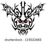 isolated tribal tattoo | Shutterstock .eps vector #115022683