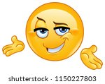 confident emoticon presenting... | Shutterstock .eps vector #1150227803