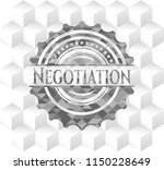 negotiation grey badge with... | Shutterstock .eps vector #1150228649
