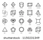 set of 20 icons such as cube ...