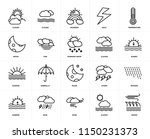 set of 20 icons such as waves ...