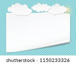 white lined notebook paper with ... | Shutterstock .eps vector #1150233326