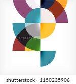 minimal circle abstract... | Shutterstock .eps vector #1150235906