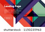 square shape geometric abstract ...   Shutterstock .eps vector #1150235963