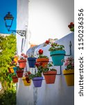 many colorful pots with...   Shutterstock . vector #1150236356